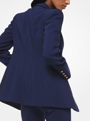 Michael Kors Stretch Pebble-Crepe Blazer
