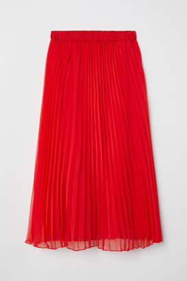 H&M Pleated Skirt - Red
