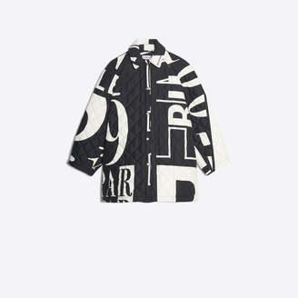 Balenciaga Oversize macro typo printed quilted jacket