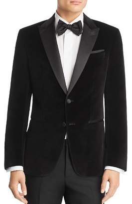 HUGO Helward Velvet with Satin Lapel Slim Fit Tuxedo Jacket