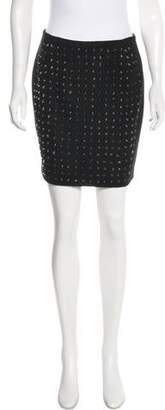 Markus Lupfer Studded Mini Skirt