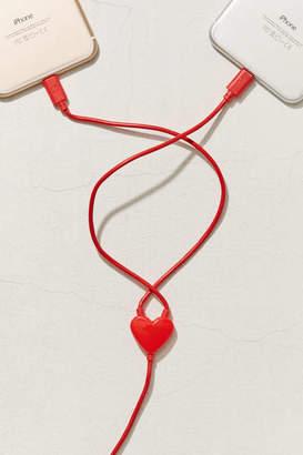 Kikkerland Design Dual Heart Lightning Cable