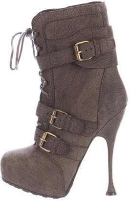 Brian Atwood Leather Platform Boots $175 thestylecure.com