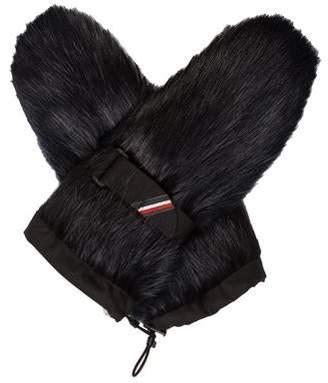 Moncler Fox Fur Mittens