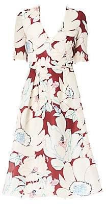 Carolina Herrera Women's Floral A-Line Silk Dress