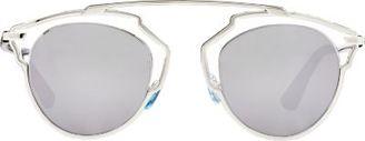 """Dior Women's """"Dior So Real"""" Sunglasses-SILVER $560 thestylecure.com"""