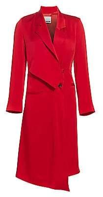 Each X Other Women's Drape Tailored Button-Side Midi Blazer Dress