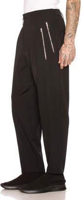 Yohji Yamamoto Slim Zip Pants in Black   FWRD