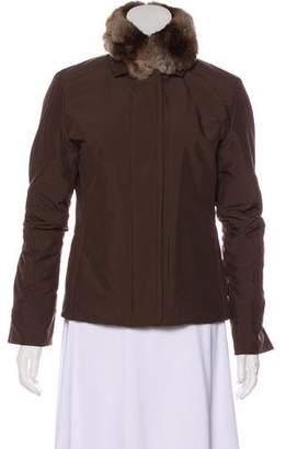 Loro Piana Chinchilla Trim Zip-Up Jacket
