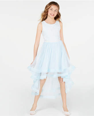 1b4b5e6cd Speechless Big Girls Embroidered High-Low Hem Dress