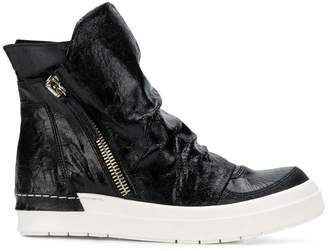 Cinzia Araia hi-top zipped sneakers