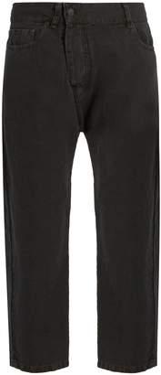 Nili Lotan Bias cotton and linen-blend tapered-leg trousers