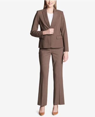 Calvin Klein Melange Peak-Collar Blazer