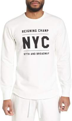Reigning Champ Logo Graphic Long Sleeve T-Shirt