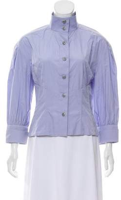 Chanel Three-Quarter Sleeve Button-Up Top