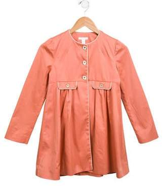 Marie Chantal Girls' Long A-Line Coat