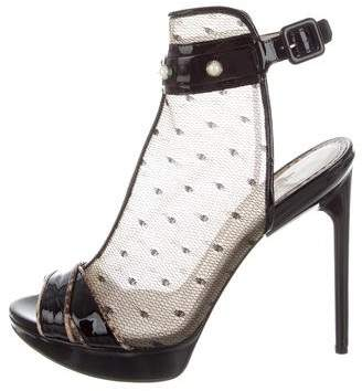 Jason Wu Stella Mesh & Patent Leather Booties w/ Tags