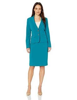 Le Suit LeSuit Women's 2 Button Notch Collar Crepe Skirt Suit, 6