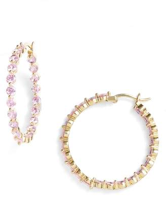 Nina Large Cubic Zirconia Hoop Earrings