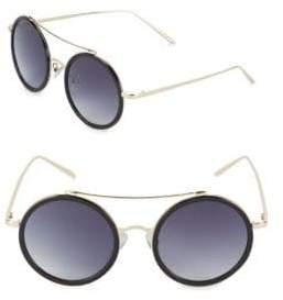Gradient 50MM Round Sunglasses