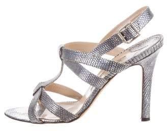 7f494bf67 Manolo Blahnik Silver Heel Strap Sandals For Women - ShopStyle Australia