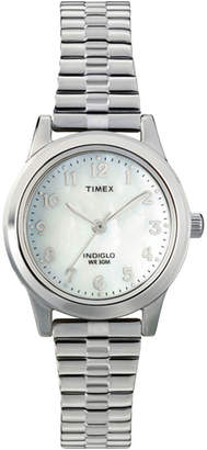 Timex Womens Round Mother-of-Pearl Watch T2M826