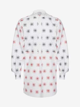 Alexander McQueen Folk Embroidery Patchwork Shirt