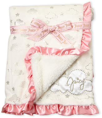 Juicy Couture Newborn/Infant Girls) Satin Trim Plush Clouds Blanket