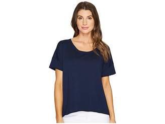 Mod-o-doc Cotton Modal Spandex French Terry Short Sleeve Boxy Tee Women's T Shirt