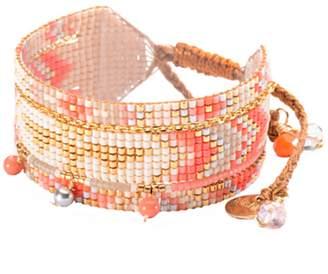 Mishky Medly Beaded 4mm Swarovski Pearl Cuff Bracelet