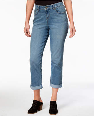 Style&Co. Style & Co Petite Curvy-Fit Boyfriend Jeans
