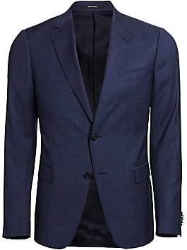 f19720321 Ermenegildo Zegna Men's Tonal Plaid Wool Sport Jacket