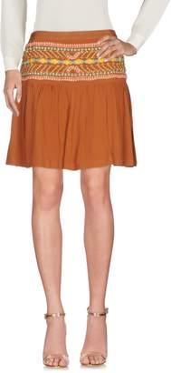 Blank Knee length skirts