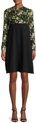 Mikael Aghal Embroidered Empire Waist Dress