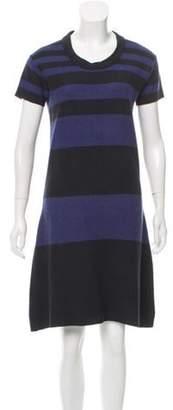 Burberry Striped Knit Dress Blue Striped Knit Dress