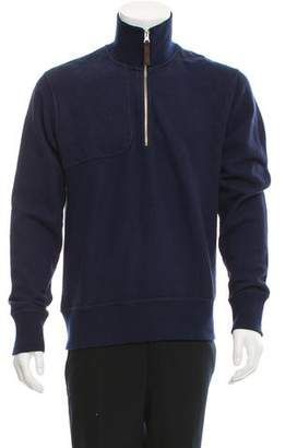 Michael Bastian Quilted Half-Zip Sweater