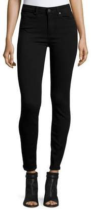 Paige Denim Hoxton Ultra-Skinny Ankle Jeans, Black Shadow $179 thestylecure.com