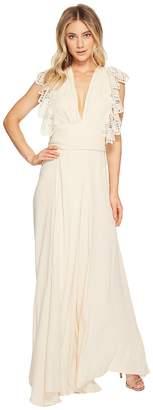 Jens Pirate Booty White Poppy Wrap Dress Women's Dress