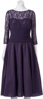 Women's Jessica Howard Sequin Lace Fit & Flare Dress $204 thestylecure.com