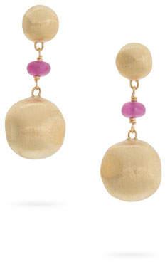 Marco Bicego 18k Gold Africa Ruby Drop Earrings