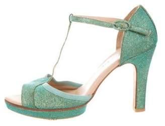 Repetto Glitter T-Strap Sandals Glitter T-Strap Sandals