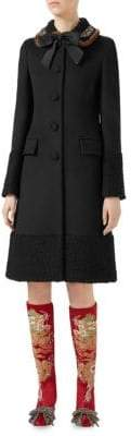 Gucci Mink Fur& Wool A-Line Coat