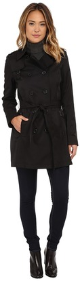 DKNY Double Breasted Belted Trench w/ Zipper and Tab Details 06541-Y5 $200 thestylecure.com
