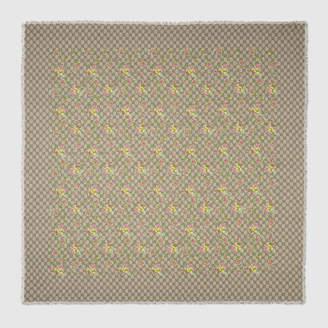 Gucci Floral and GG print modal silk shawl