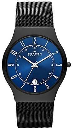 Skagen Men's Grenen Quartz Titanium and Stainless Steel Mesh Casual Watch