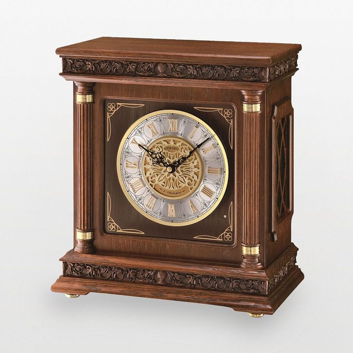 Seiko wood musical mantel clock - qxw224blh