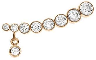 Sophie Bille Brahe 'Croissant Amanda' diamond 18k yellow gold single earring