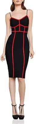 BCBGMAXAZRIA Contrast-Trim Body-Con Dress