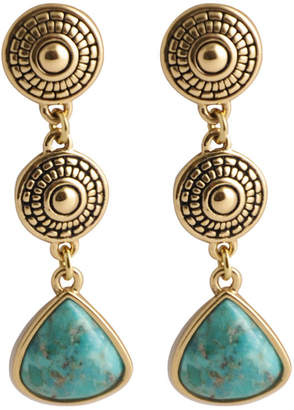 Artsmith BY BARSE Art Smith by BARSE Turquoise 3-Drop Triangle Earrings