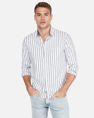 Express Slim Striped Soft Wash Shirt